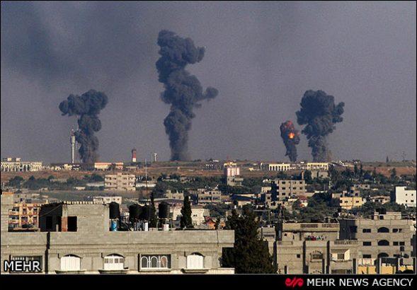 ادامه حملات رژیم صهیونیستی به نوار غزه