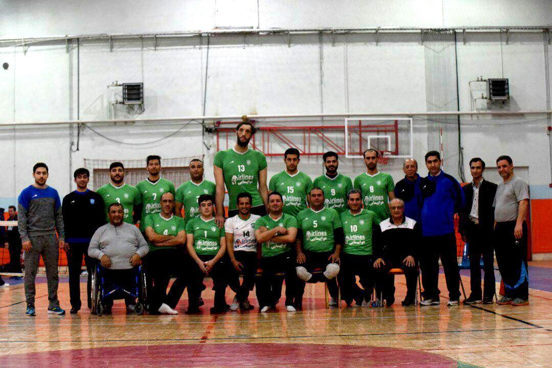 ماشین سازی تبریز نائب قهرمان والیبال نشسته کشور شد