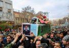 پیکر خلبان شهید رحمانی در تبریز تشییع شد
