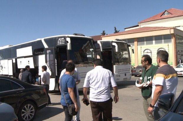 پنجمین گروه مسافران ایرانی از جمهوری آذربایجان به کشور منتقل شدند